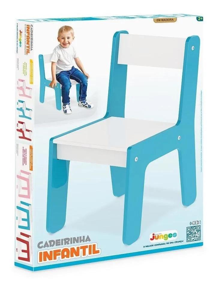 Cadeirinha Infantil Em Madeira Até 40kg Azul Junges 981