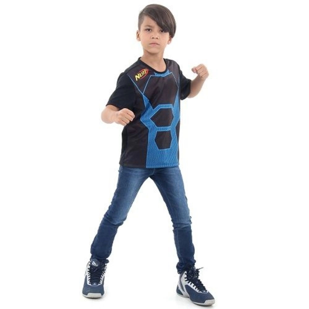 Camiseta Nerf Azul e Preta - Acessorio Nerf