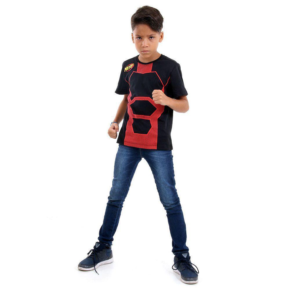 Camiseta Nerf Preta c/ Vermelho - Acessorio Nerf
