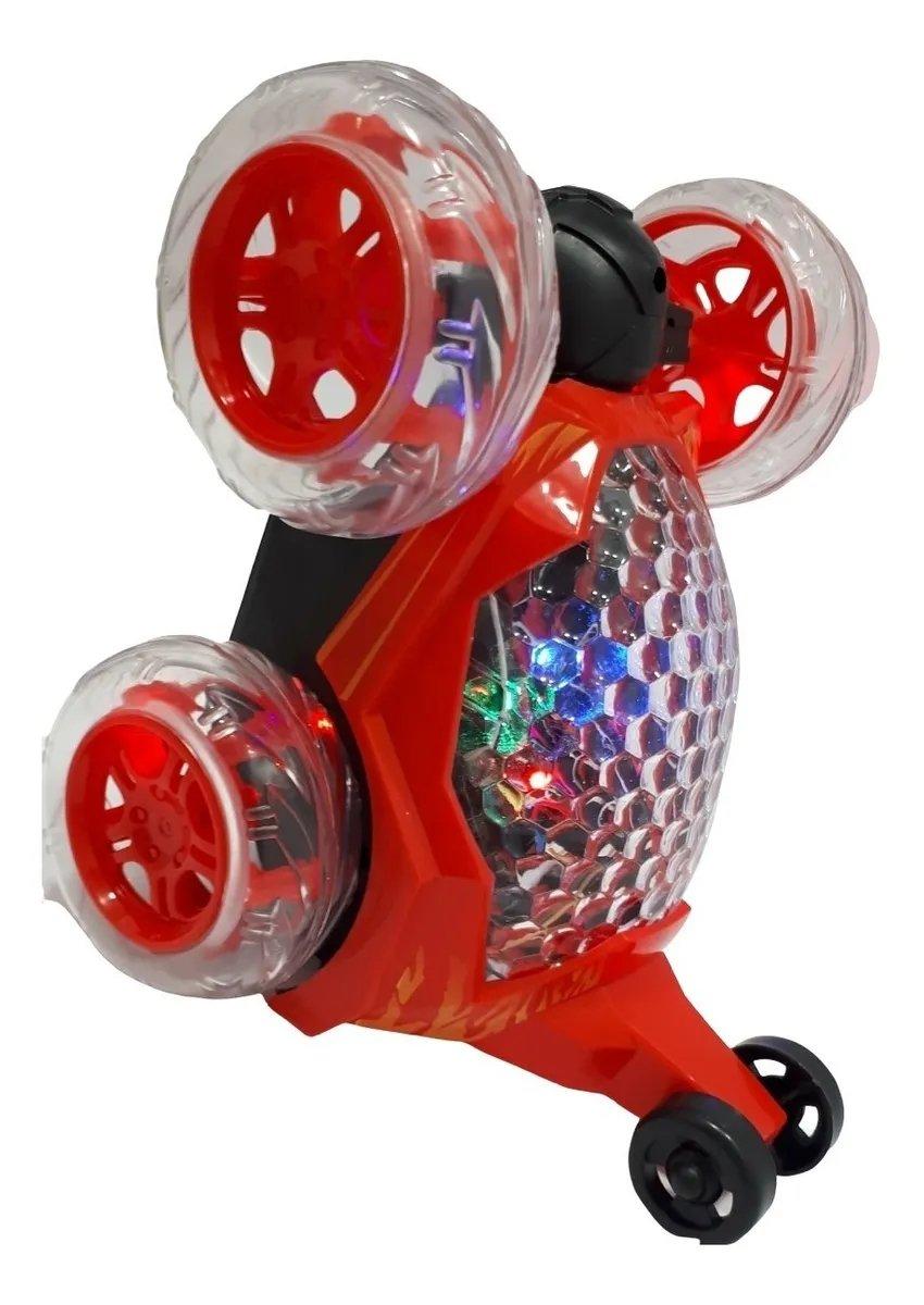 Carrinho Controle Remoto Crazy  Maluco Gira 360° Som E Luz