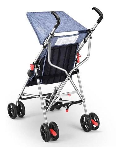 Carrinho De Bebê Guarda Chuva Pocket Azul Multikids BB501