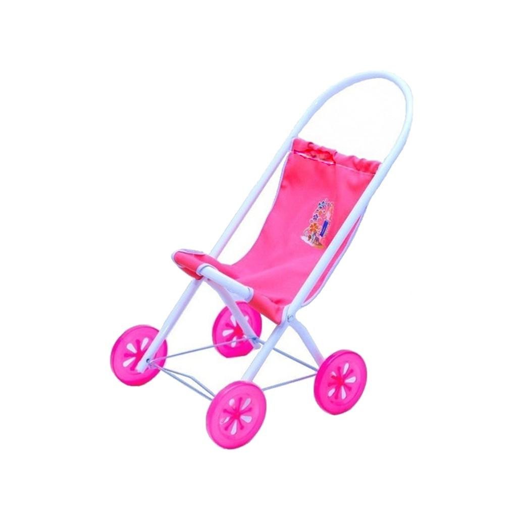 Carrinho De Boneca Luxo Sentado Rosa P/ Bebê Reborn Bataglin