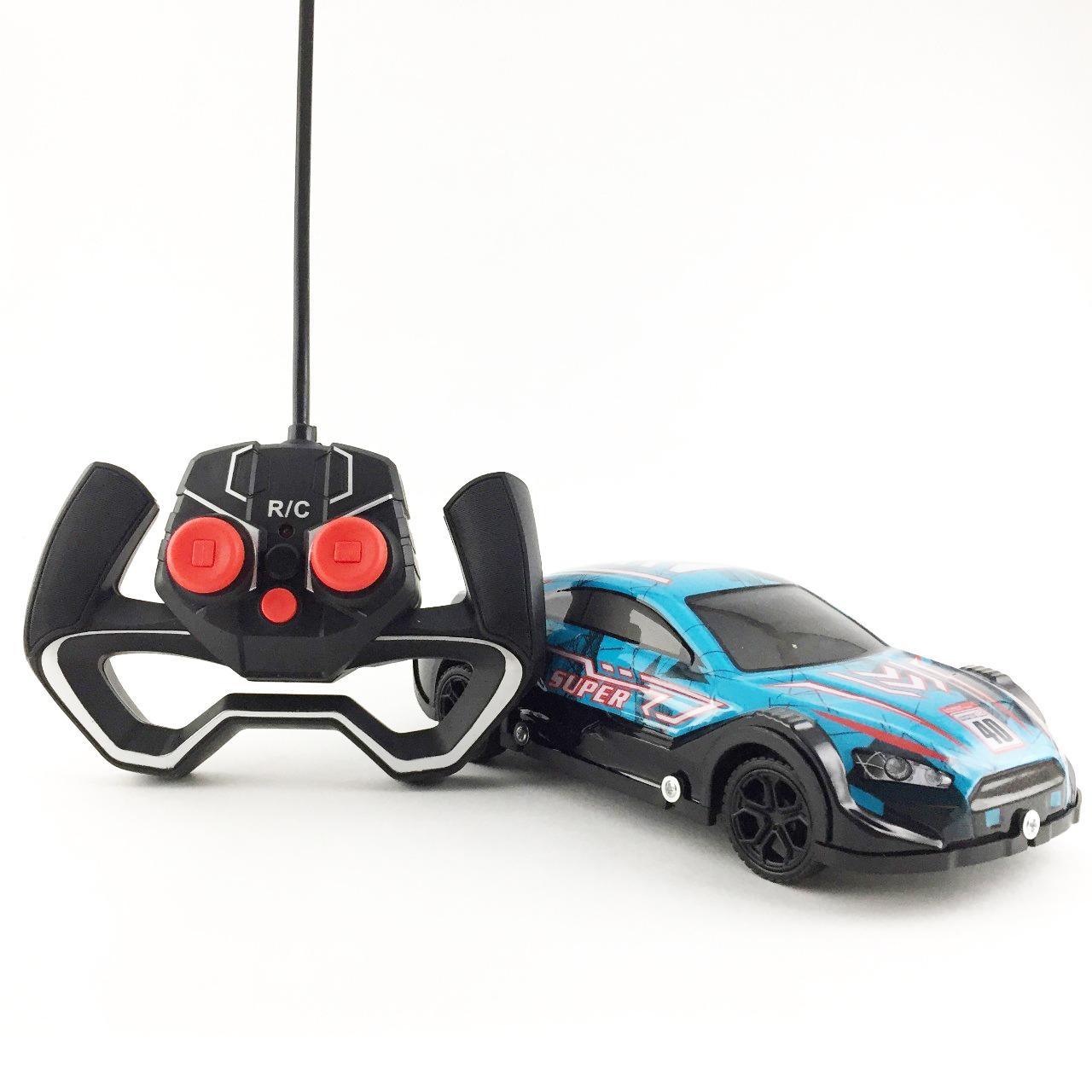 Carrinho de Controle Remoto Brilha No Escuro Bateria Recarregável Race Neon