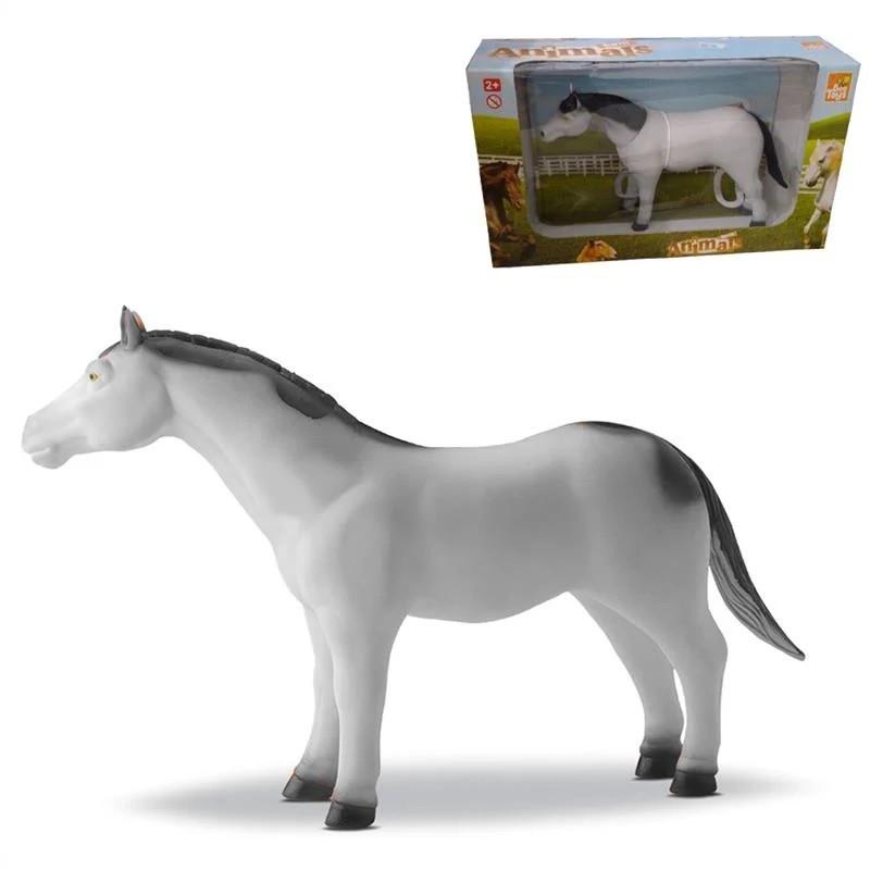 Cavalo Farm Animals Branco Animais Da Fazenda - Bee Toys