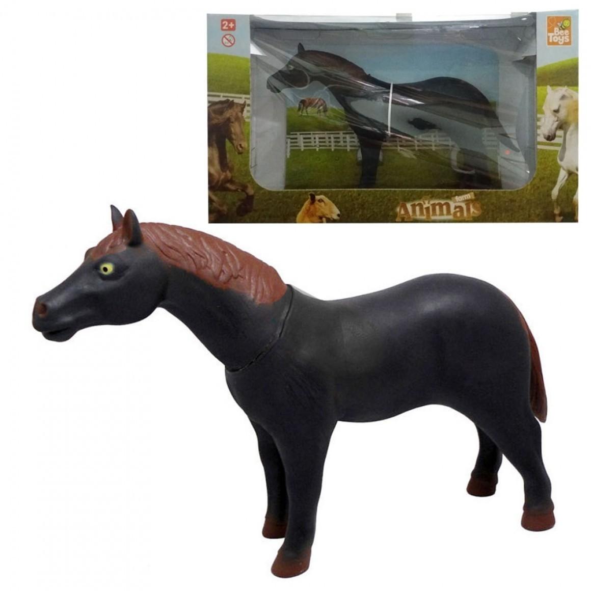 Cavalo Farm Animals Preto Animais Da Fazenda - Bee Toys