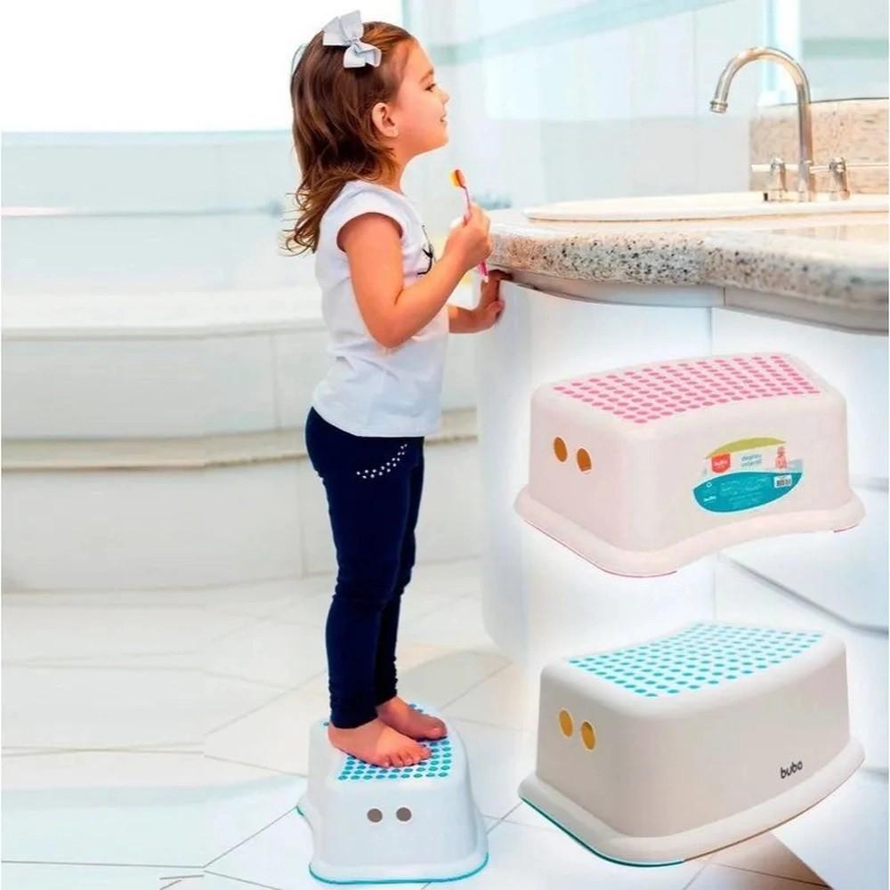 Degrau Infantil Azul Antiderrapante - Buba