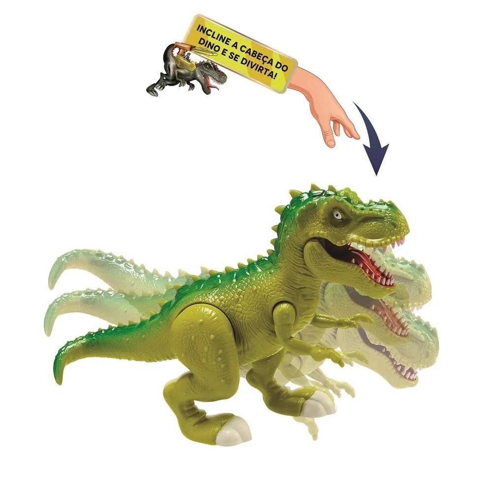 Dinossauro Attack Rex Grande 40 Cm Com Som Luz Lança Míssil