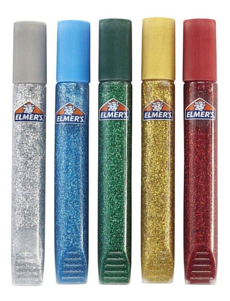 Elmer's Caneta Cola Glitter Slime com 5 Cores