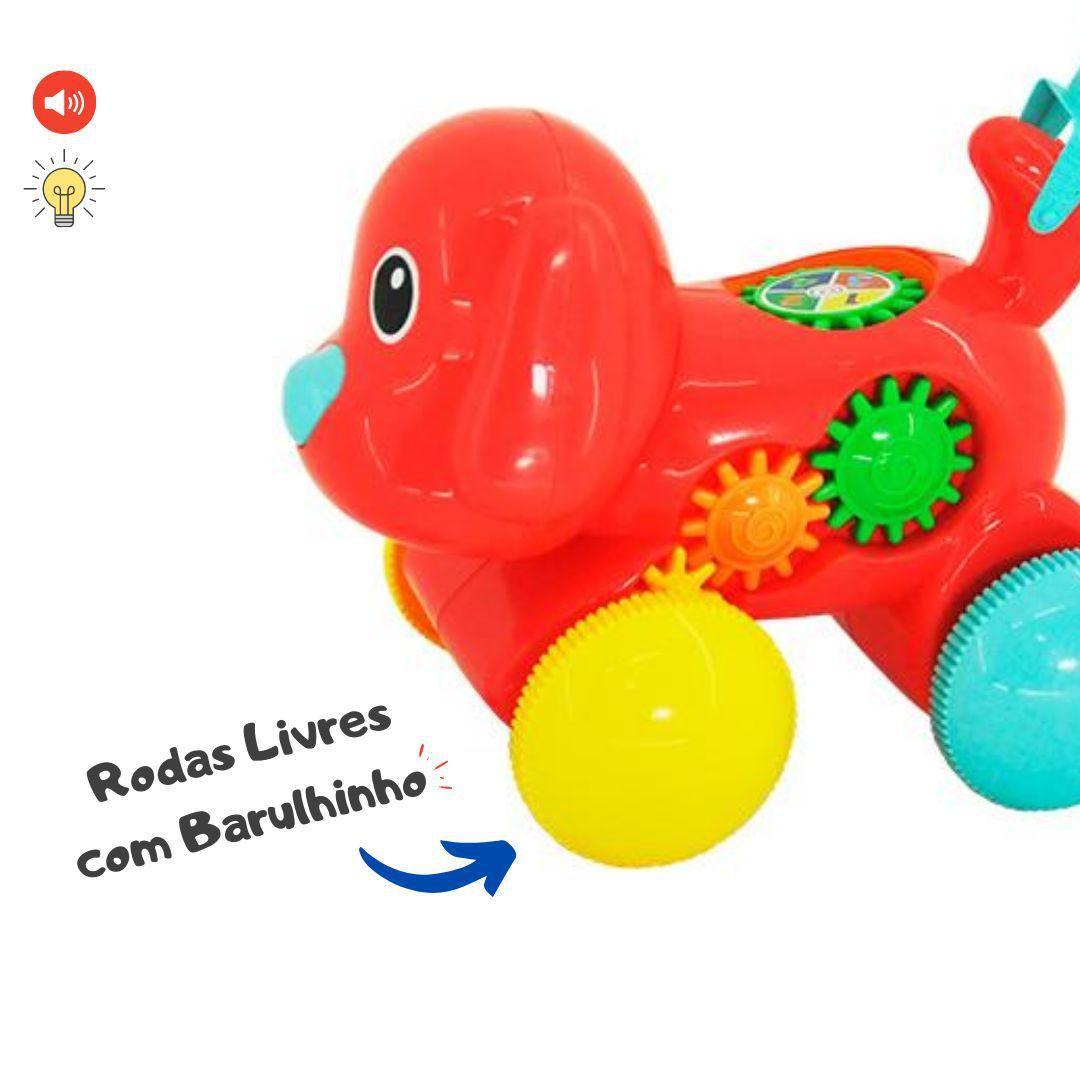Empurra Baby Musical Brinquedo Infantil Cachorro - Dm Toys