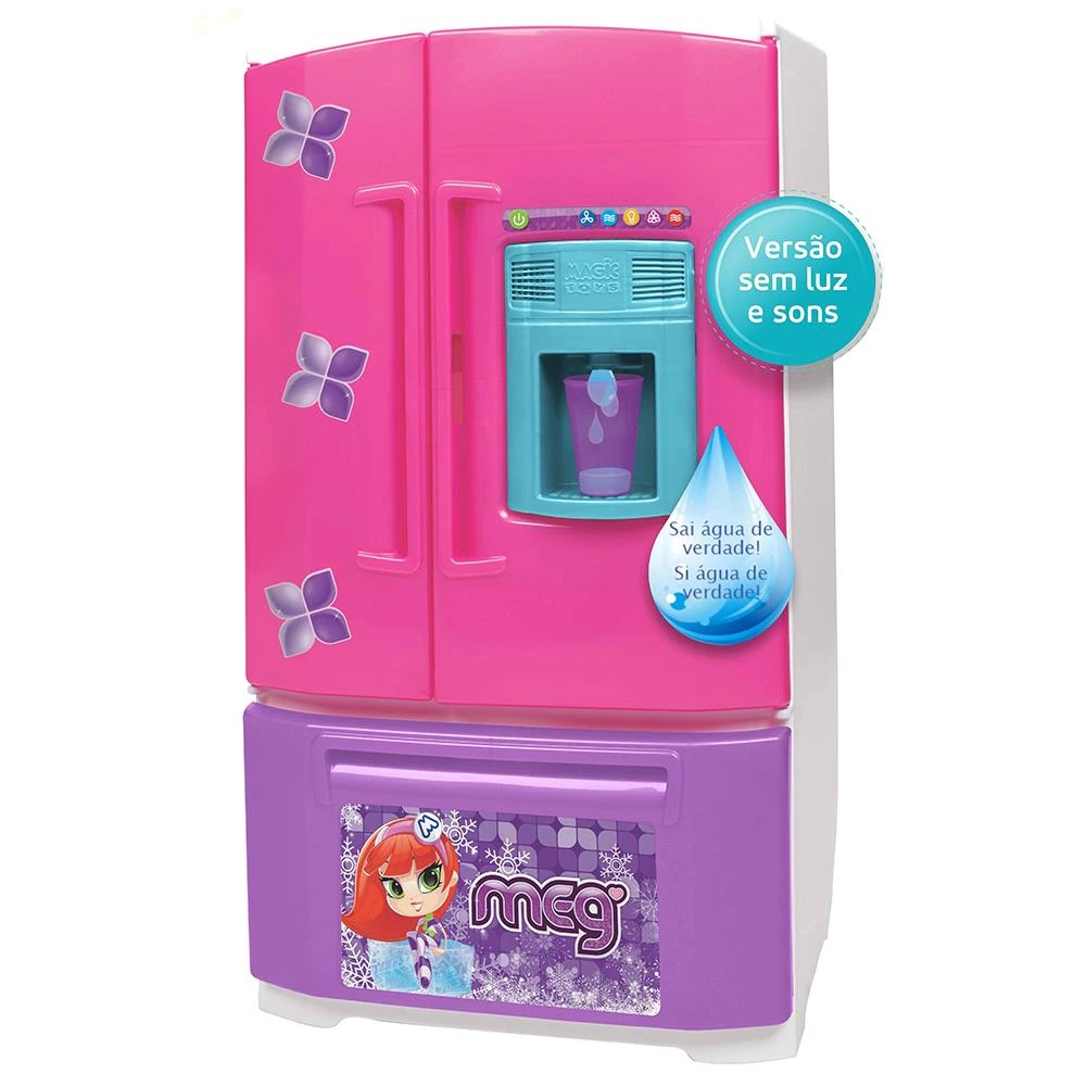 Geladeira Infantil Inverse Sai Água Na Porta 8059 Magic Toys