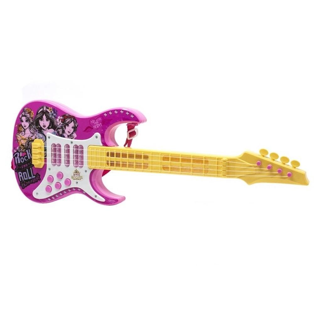 Guitarra Brinquedo Infantil Com Luz E Som Princesas Disney