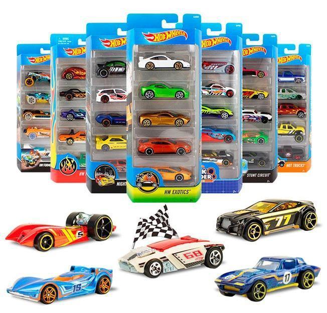 Hot Wheels pacote com 5 carrinhos Mattel