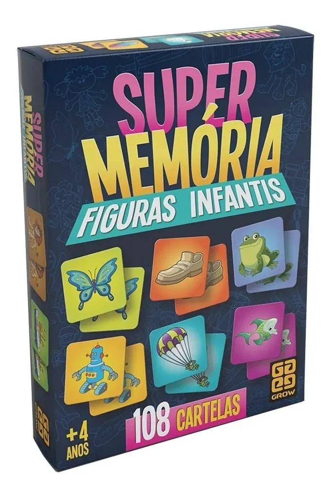 Jogo da Memória Supermemória Figuras Infantis - Grow
