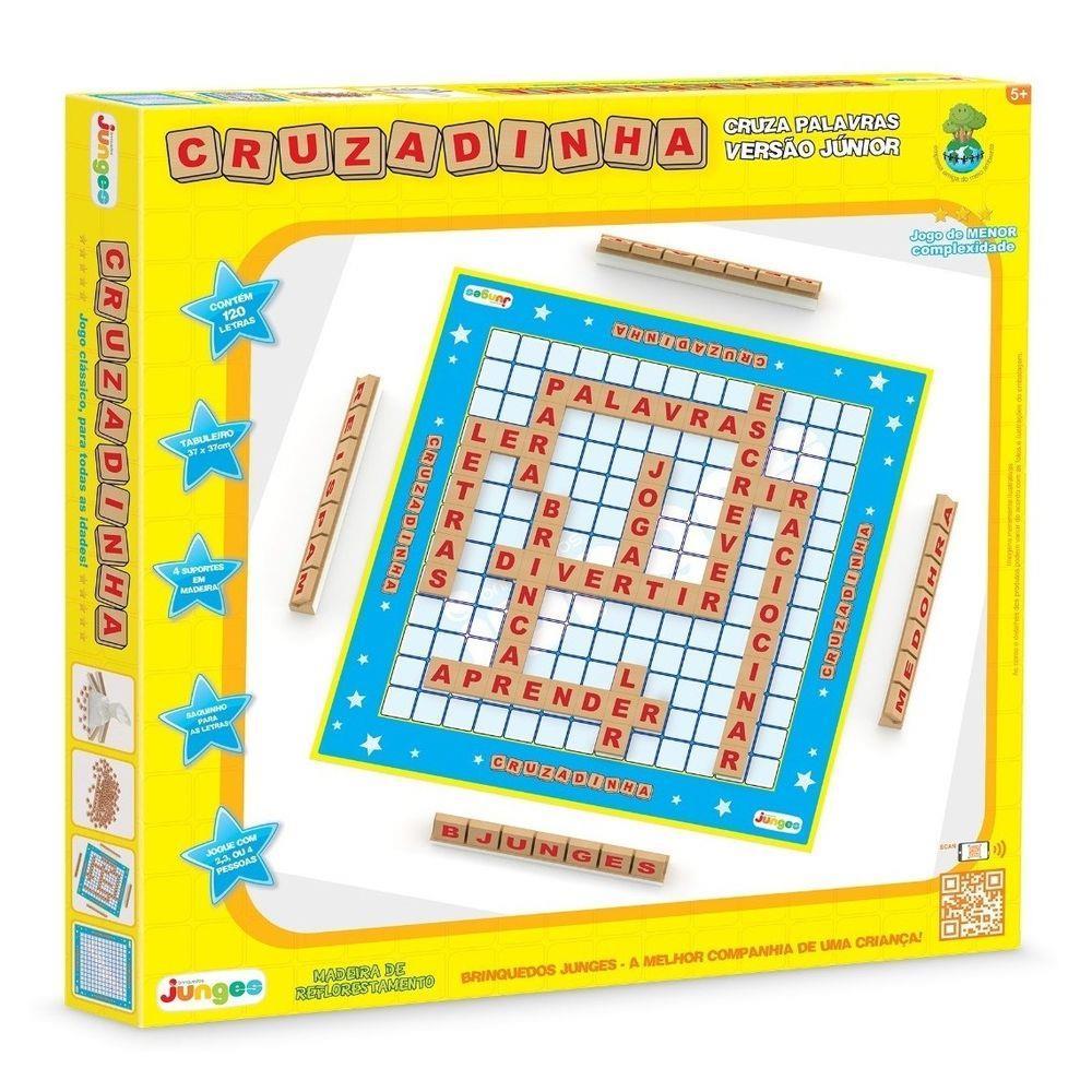 Jogo Palavras Cruzadas Júnior Tabuleiro Brinquedo Educativo