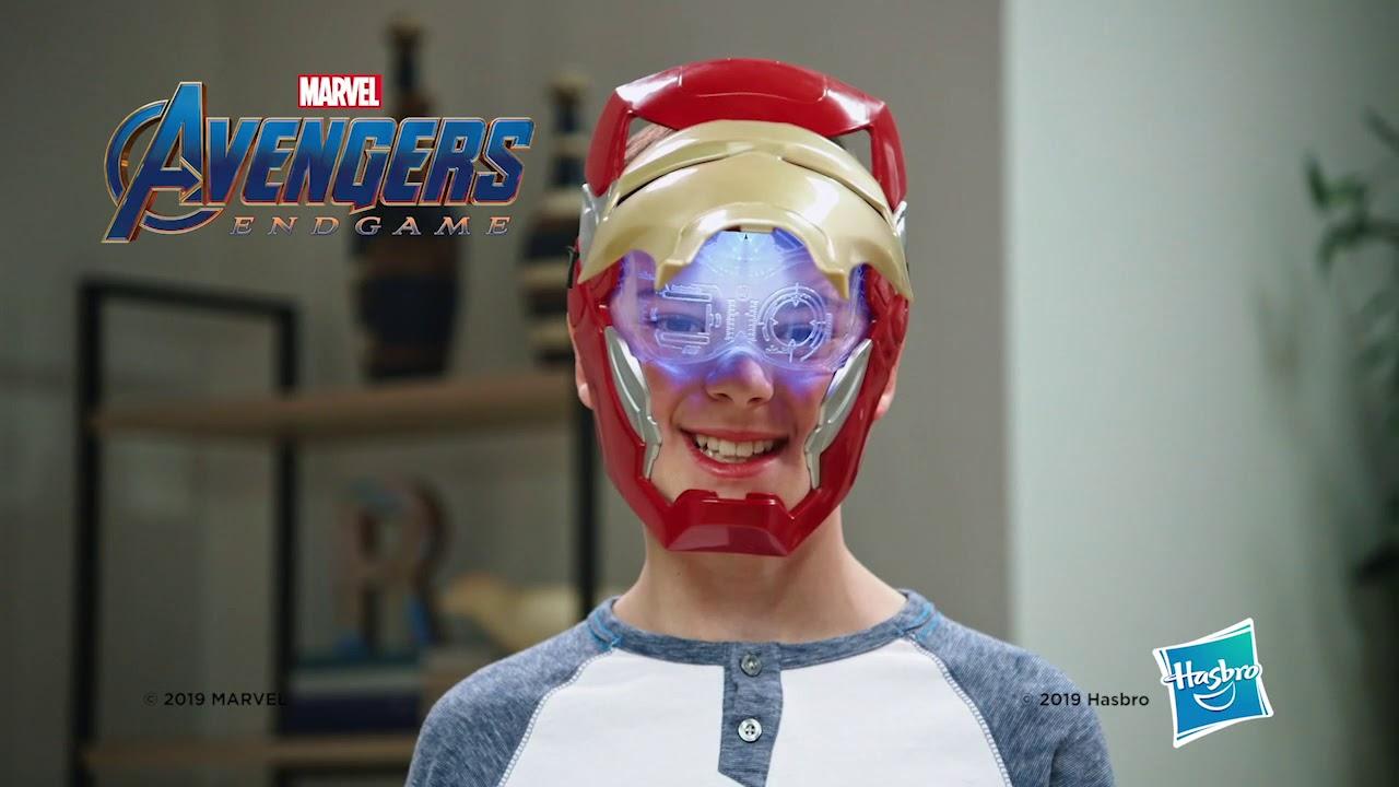 Máscara Com Viseira Móvel Avengers Iron Man - Hasbro