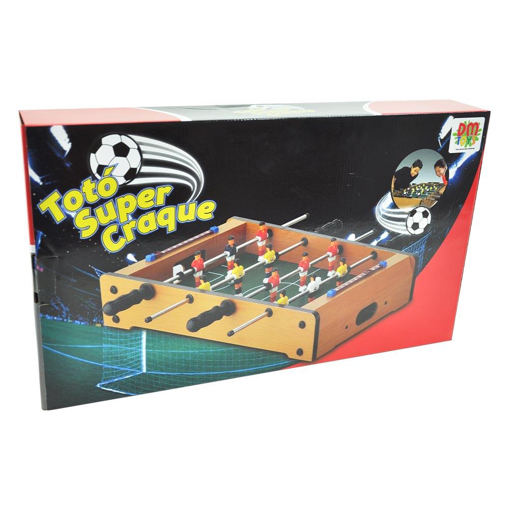 Mini Jogo de Mesa Pebolim Portátil Totó Super Craque Junior