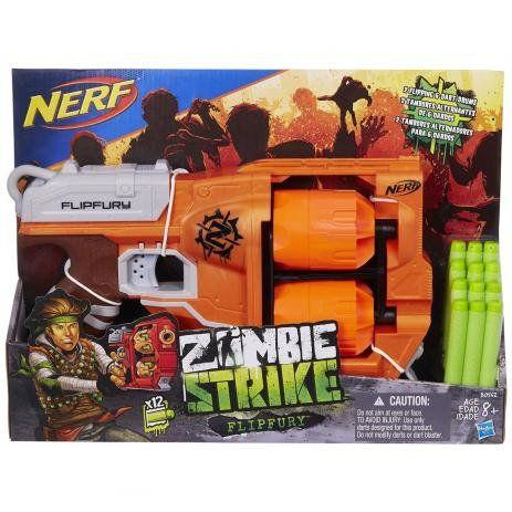 Nerf Zombie Lancador Dirtydozen Flipfury B0562 - Hasbro