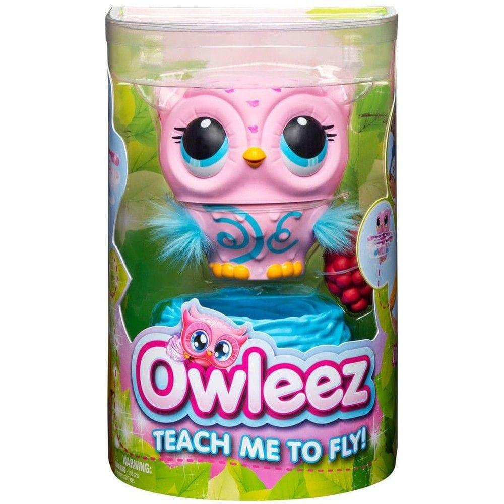 Owleez Coruja Interativa Rosa - Voa De Verdade Sunny 2106