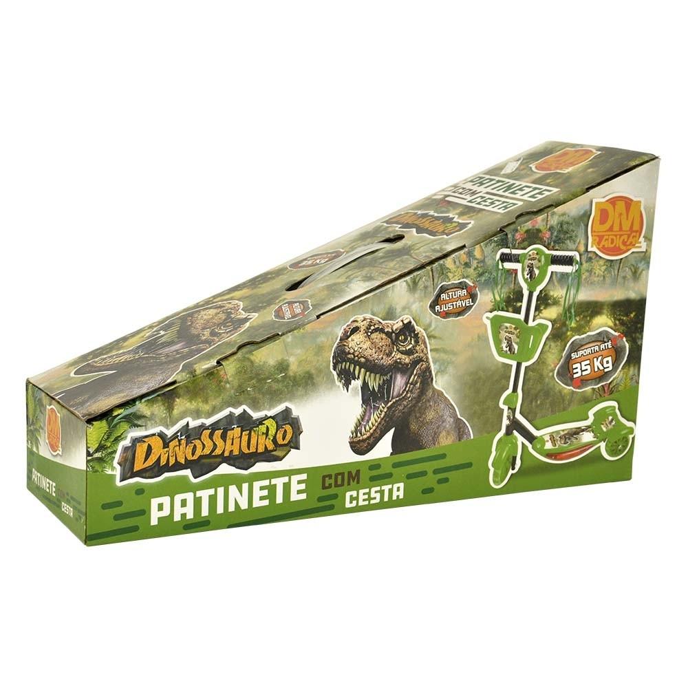 Patinete 3 Rodas Infantil Musical com Luzes e Som Dinossauro