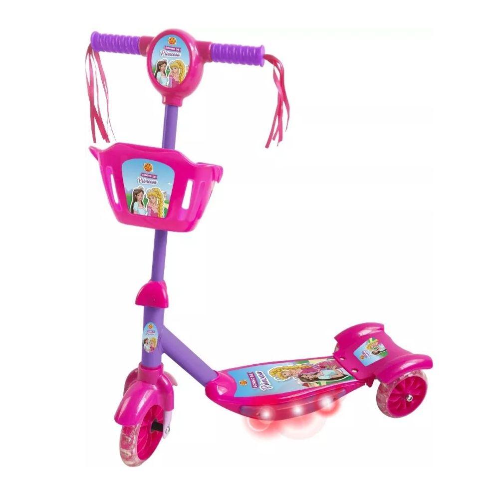 Patinete c/  Cesta e Som Sonho de Princesa - Dm Toys