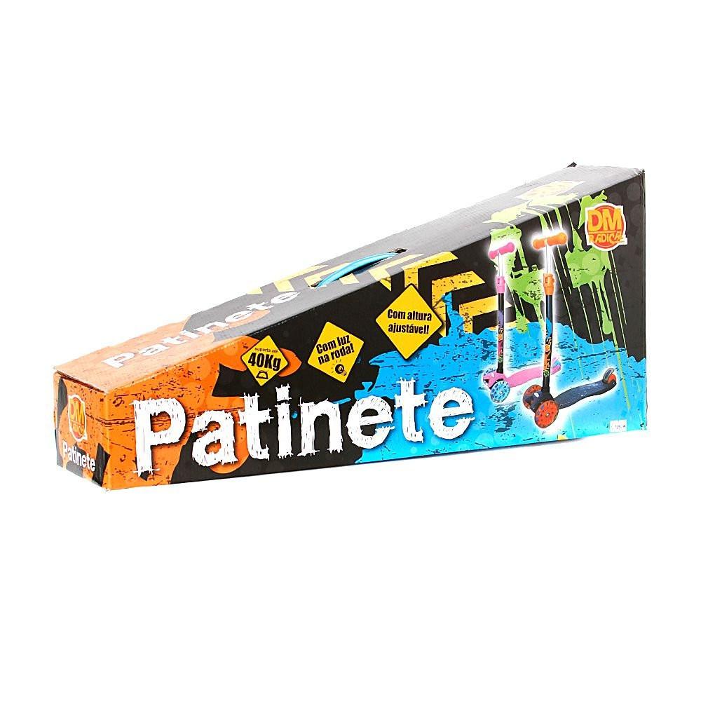 Patinete Infantil Luzes Regulável 4 Rodas 40kgs - 2 Cores