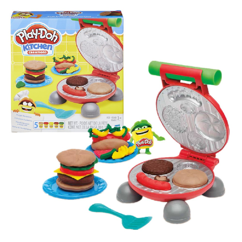 Play Doh Massinha Brincando Festa Do Hambúrguer Hasbro