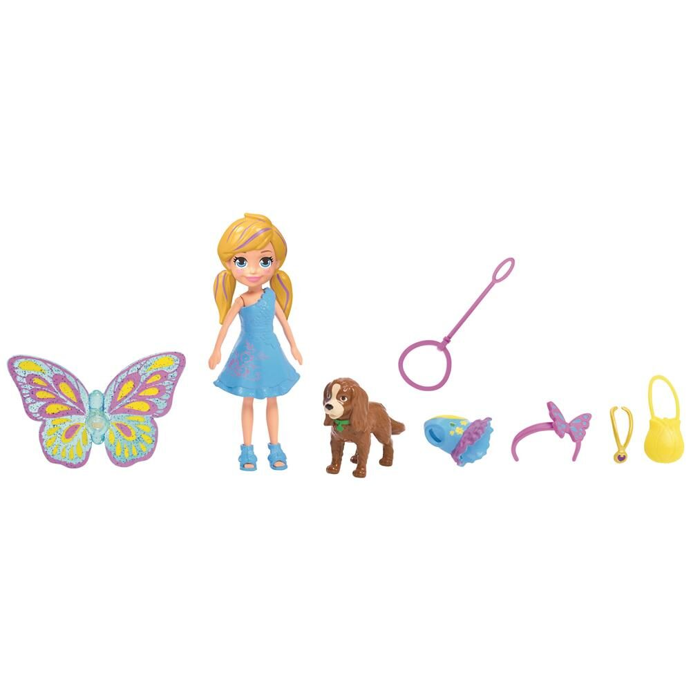 Polly Pocket Kit Cachorro Fantasias Combinadas Gdm15 Mattel