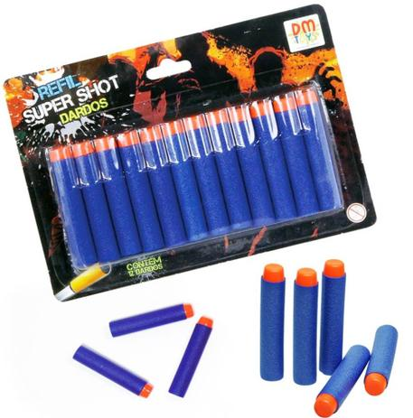 Refil 12 Dardos / Lancadores  Super Shot - Dm Toys