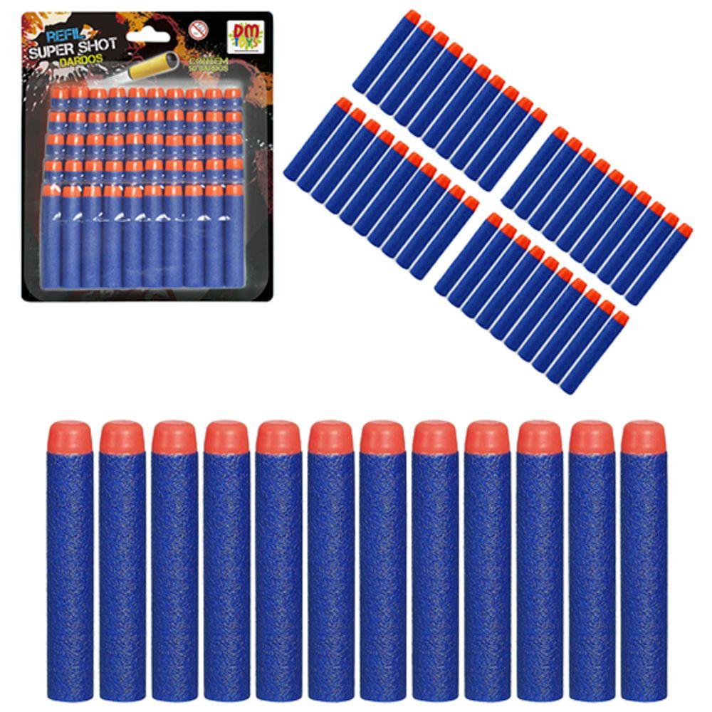 Refil de Lançadores Super Shot 50 Dardos - Dm Toys