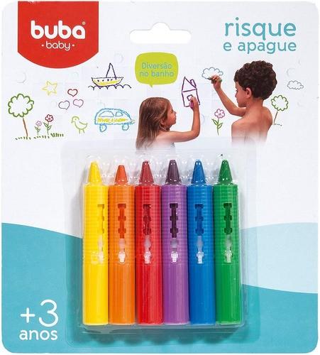 Risca E Apaga Giz Para Azulejo Com 6 Cores - Buba