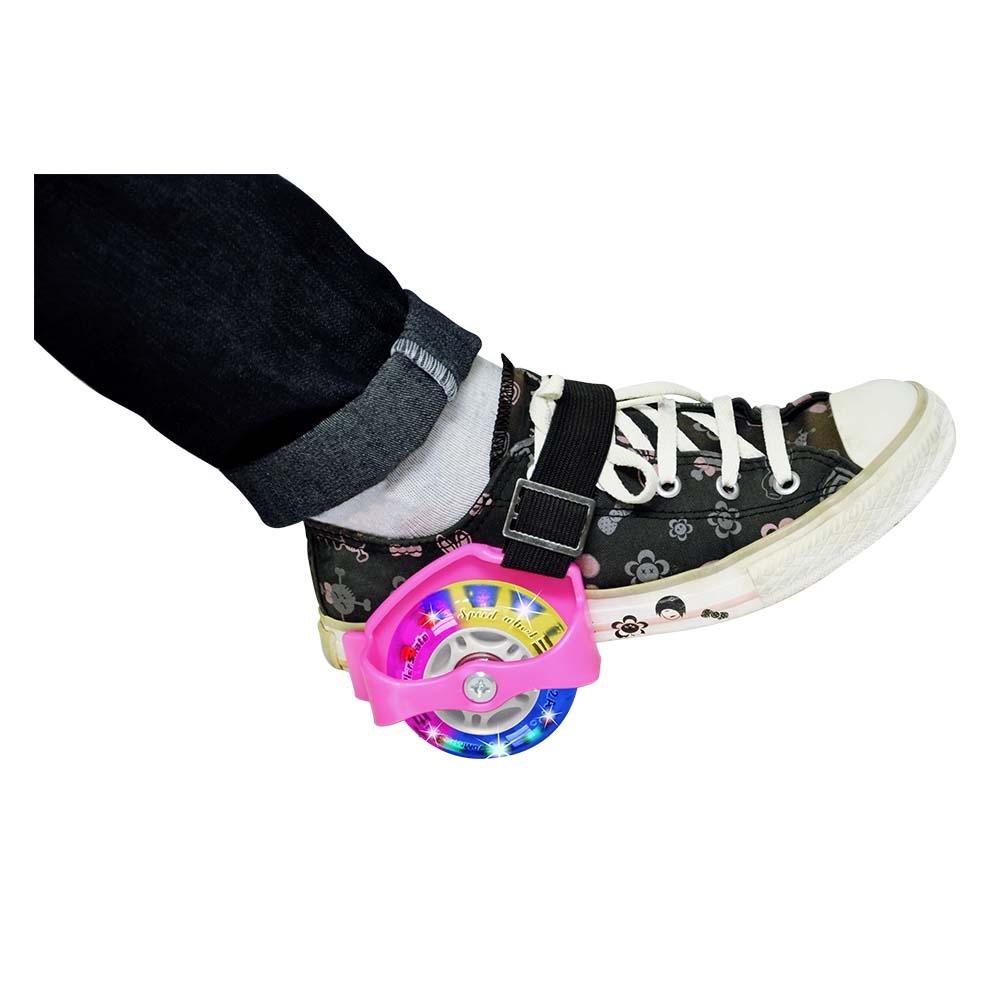 Rodinhas Para Tênis Suporte Com Roda Luz Led Patins -DM Toys