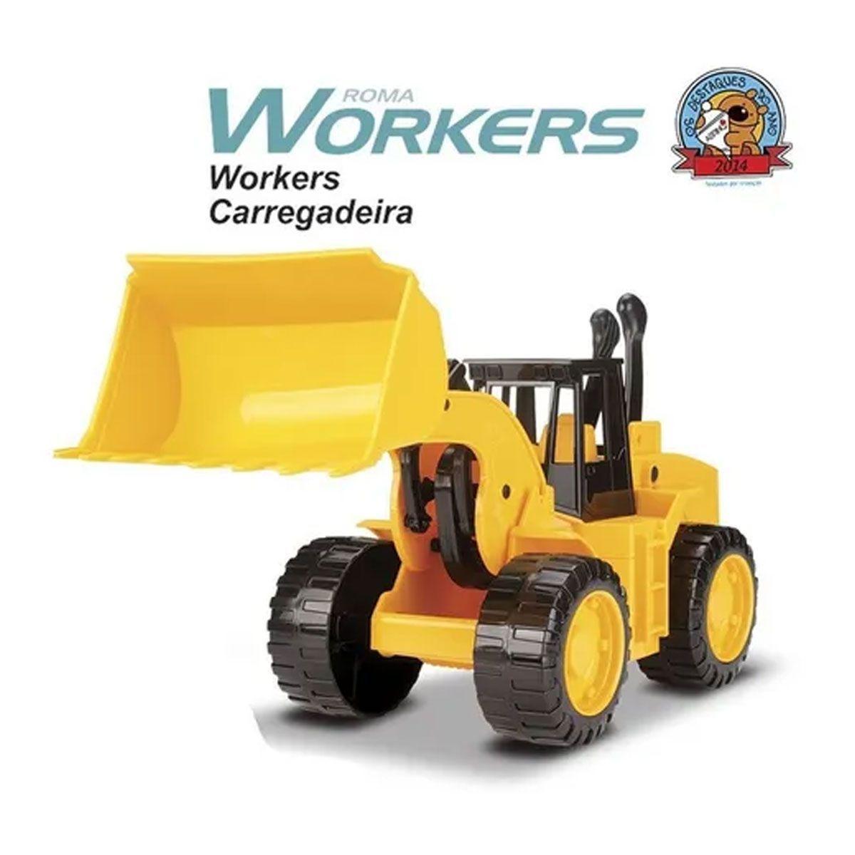 Roma Workers Trator Carregadeira - Roma Brinquedos