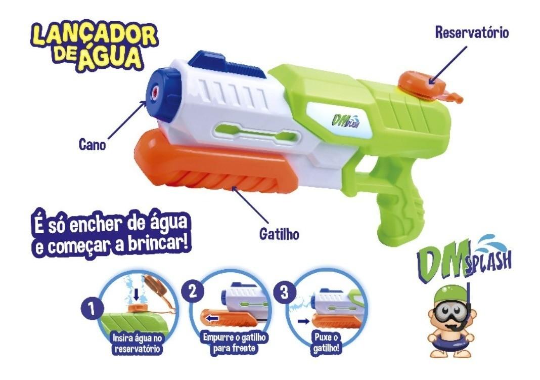 Super Arminha De Água Lançador Pistola De Agua 29cm 500ml