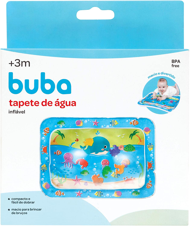 Tapete De Água Inflável Divertido P/ Bebê Fundo Do Mar Buba