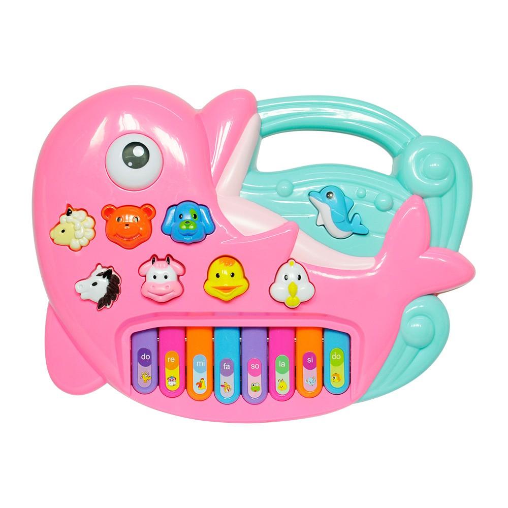 Tecladinho Divertido Golfinho Rosa  Dm Toys