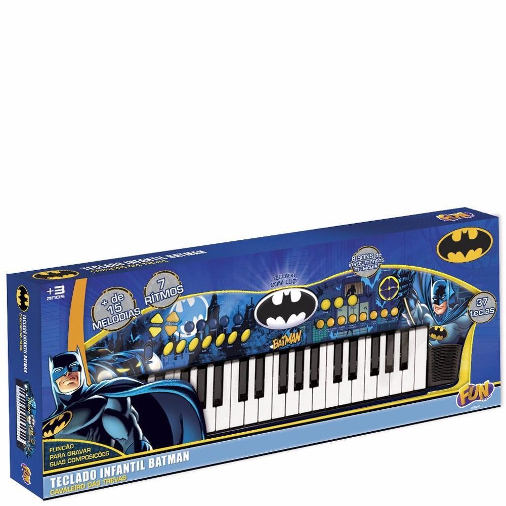 Teclado Infantil Batman Cavaleiro Das Trevas - Fun