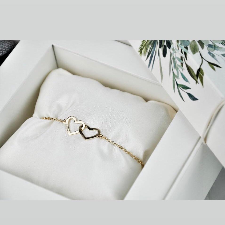 16 Kits Completos para Padrinhos, contendo, Box Personalizada, 1 Gravata Masculina e 1 Pulseira Feminina de Prata com Banho de Ouro