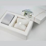 Kit Completo para Padrinho, contendo, Box Personalizada, 1 Gravata Masculina e 1 Pulseira Feminina de Prata
