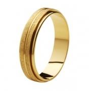 Aliança de Casamento de Ouro 18k / 750, Reta , Gira no meio