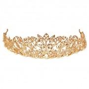 Coroa para Noivas, Banhada a Ouro Rosa, com Microcravações de Zircônias - Coroa Elizabeth