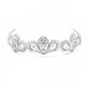 Coroa para Noivas, Microcravação de Zircônias Nobres e Banho de Ródio (Ouro Branco) - Coroa Paris