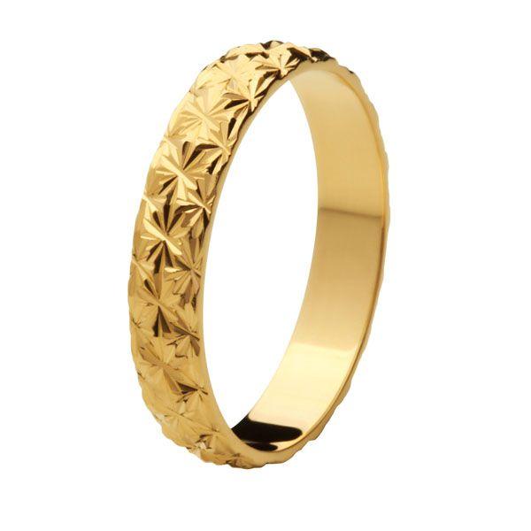 Aliança Bodas de Ouro, Ouro 18k / 750 - Abaulada, Texturizada