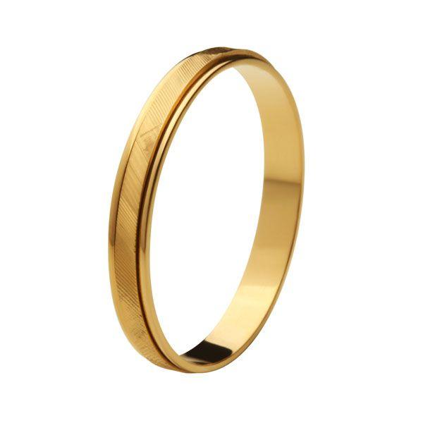 Aliança Bodas de Ouro, Ouro 18k / 750 - Fina, Reta, Texturizada