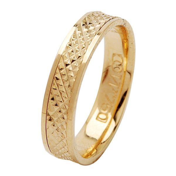 Aliança Bodas de Ouro, Ouro 18k / 750 - Reta, Texturizada