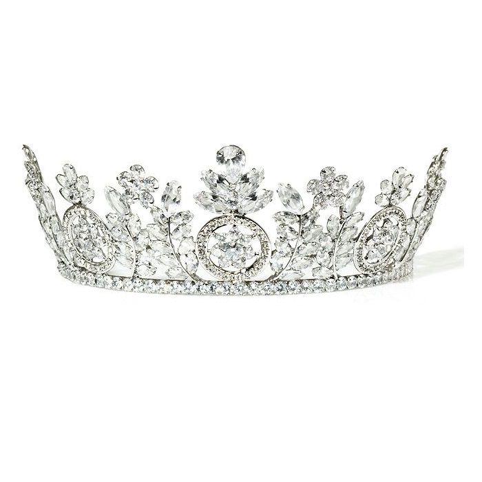 Coroa para Noivas, Alta cravejada de Zircônias de Multiplas lapidações - Coroa Bamberg