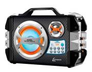 Caixa Amplificadora Lenoxx CA303 Music Wave Preto e Prata