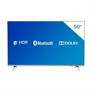 Smart TV LED 50'' Philips 50PUG6654/78 Ultra HD 4k, Design sem Bordas HDR10+ Dolby Vision Dolby Atmos Bluetooth 3 HDMI 2 USB 60 HZ - Prata