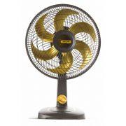 Ventilador Mallory 30cm Color TS30 Preto Dourado