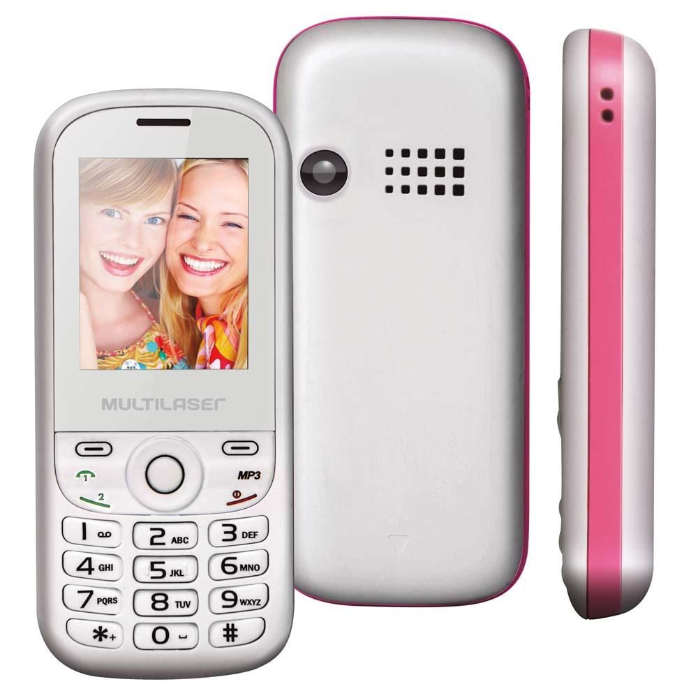 CELULAR MULTILASER P3293 UP 2CHIP BCO/RSA