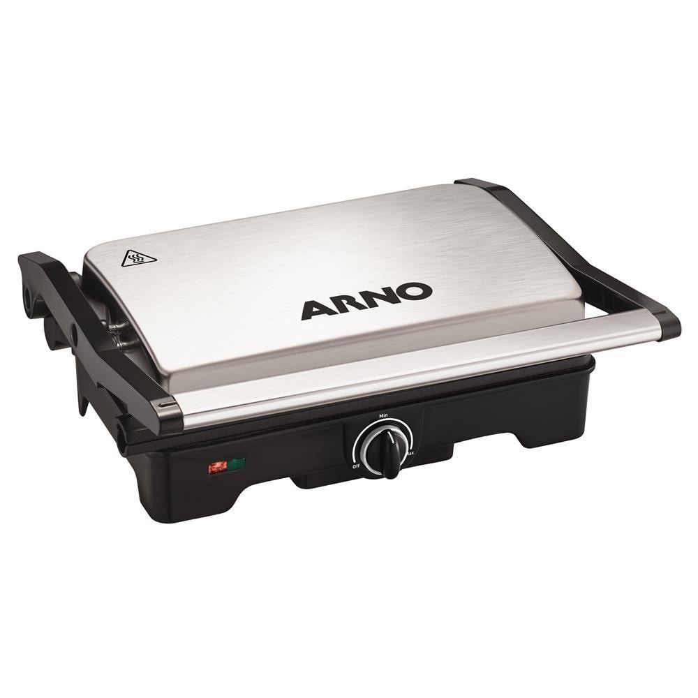 Grill Arno Dual Gnox Antiaderente Inox